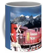 Canadian Pacific Trail Slices Through The Rockies Coffee Mug