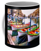 Canal Boats On A Canal In Venice L A S Coffee Mug