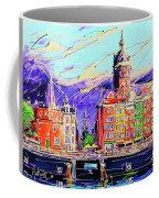 Canal Of Amsterdam, Storm Is Comming Coffee Mug