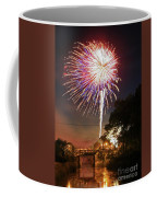 Canal View Of Fire Works Coffee Mug