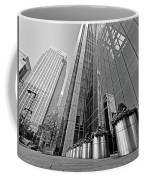 Canary Wharf Financial District In Black And White Coffee Mug