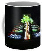 Cancun Mexico - Chichen Itza - Temple Of Kukulcan-el Castillo Pyramid Night Lights 5 Coffee Mug