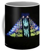 Cancun Mexico - Chichen Itza - Temple Of Kukulcan-el Castillo Pyramid Night Lights 6 Coffee Mug