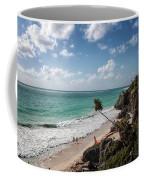 Cancun Mexico - Tulum Ruins - Caribbean Beach Coffee Mug