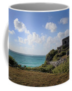 Cancun Mexico - Tulum Ruins - Temple For God Of The Wind 1 Coffee Mug