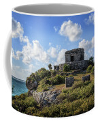 Cancun Mexico - Tulum Ruins - Temple For God Of The Wind 2 Coffee Mug