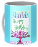 Candles And Cake Coffee Mug