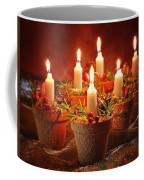Candles In Terracotta Pots Coffee Mug by Amanda Elwell