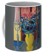 Candlesticks And Blossoms Coffee Mug