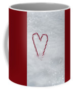 Candy Canes In Snow Coffee Mug