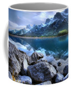 Canmore Reservoir Under A Setting Sun Coffee Mug