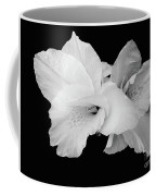 Canna Lily In Black And White Coffee Mug