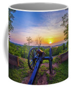 Cannon At Sunset Coffee Mug