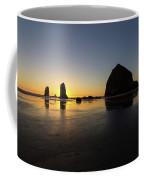 Cannon Beach Low Tide Sunset Coffee Mug