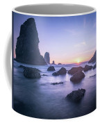 Cannon Beach Rocks Sunset Coffee Mug