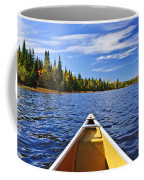 Canoe Bow On Lake Coffee Mug