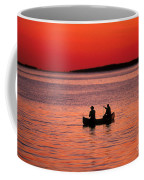 Canoe Fishing Coffee Mug