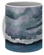 Canoe Lake Rain Clouds Coffee Mug
