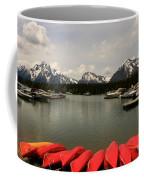 Canoe Meeting At Jackson Lake Coffee Mug