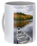 Canoe On A Lake Coffee Mug