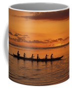 Canoe Paddlers Silhouette Coffee Mug