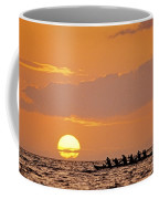 Canoeing At Sunset Coffee Mug