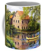 Canoeing Past The Mill Coffee Mug