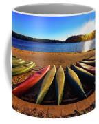 Canoes At Sunset Coffee Mug