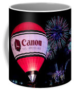 Canon - See Impossible - Hot Air Balloon With Fireworks Coffee Mug