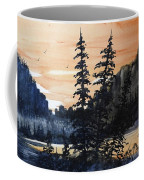 Canyon Trees, Watercolor Coffee Mug