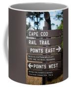 Cape Cod Rail Trail Sign Eastham Coffee Mug