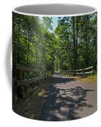 Cape Cod Rail Trail Trees Eastham Ma Fence Coffee Mug