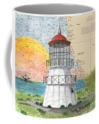 Cape Mendocino Lighthouse Ca Nautical Chart Map Coffee Mug