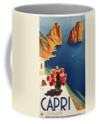 Capri Island, Bay Of Naples, Italy - Retro Travel Poster - Vintage Poster Coffee Mug