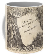 Capricci Di Varie Battaglie (title Page) Coffee Mug