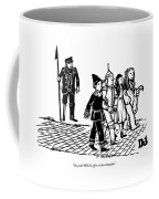Captain Ahab Stands Speaking At The Yellow Brick Coffee Mug