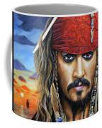 Captain Jack Coffee Mug by Arie Van der Wijst