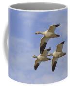 Captured Flight Of  Snow Geese Coffee Mug