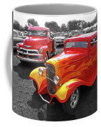 Car Show Fever - 54 Chevy With A 32 Ford Coupe Hot Rod Coffee Mug