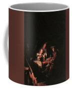 Card Players At Candlelight Coffee Mug