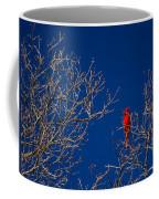 Cardinal Against Blue Sky Coffee Mug