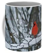 Cardinal And Snow Coffee Mug by Michael Peychich