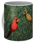 Cardinal Couple Coffee Mug by James W Johnson