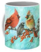 Cardinal Family Three Kids Coffee Mug