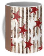 Cardinal Holiday Burlap Star Pattern Coffee Mug