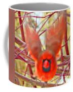 Cardinal In Flight Abstract Coffee Mug
