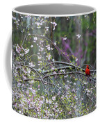 Cardinal In Flowering Tree Coffee Mug