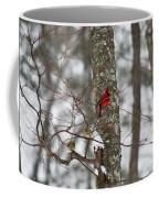 Cardinal In Snow Storm Coffee Mug
