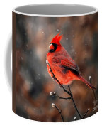 Cardinal On A Snowy Day Coffee Mug