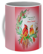 Cardinals Painted By Pat Napper  Coffee Mug